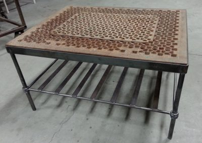Table with grate top