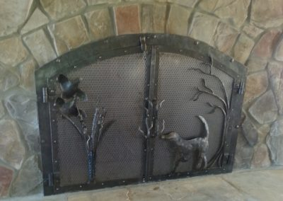 Bird dog fireplace doors