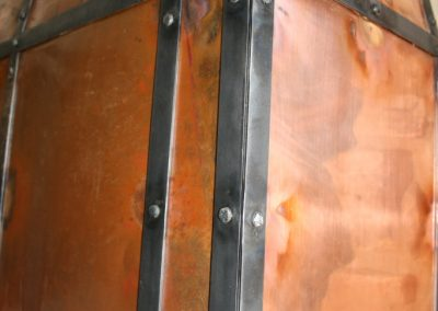 Copper vent hood detail