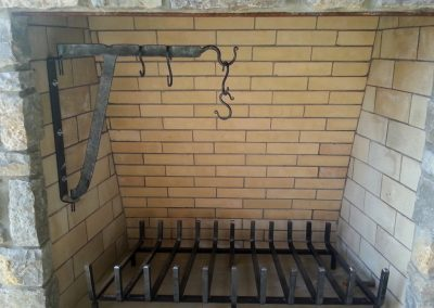 Fireplace crane and grate