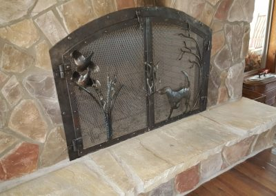 Fireplace doors and dog 5