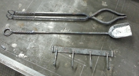 Firetools with wall mount