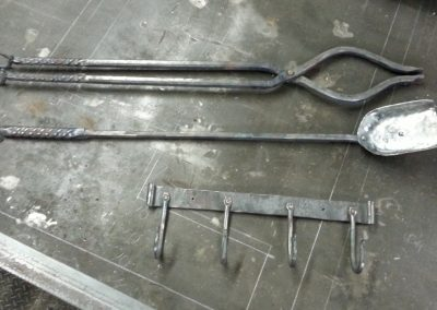 Fire tools with tongs
