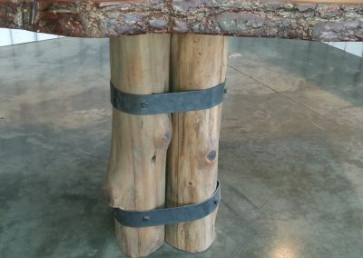 Banded table legs